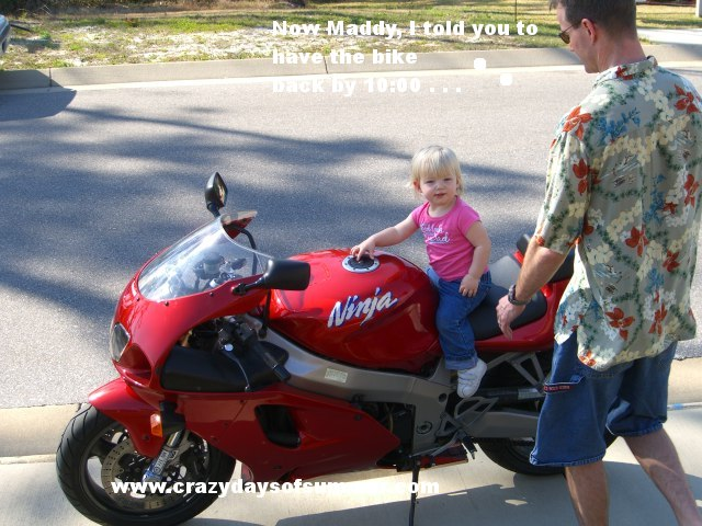 Maddy on bike